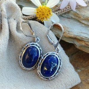 Jewelry - .925 sterling silver lapis lazuli earrings